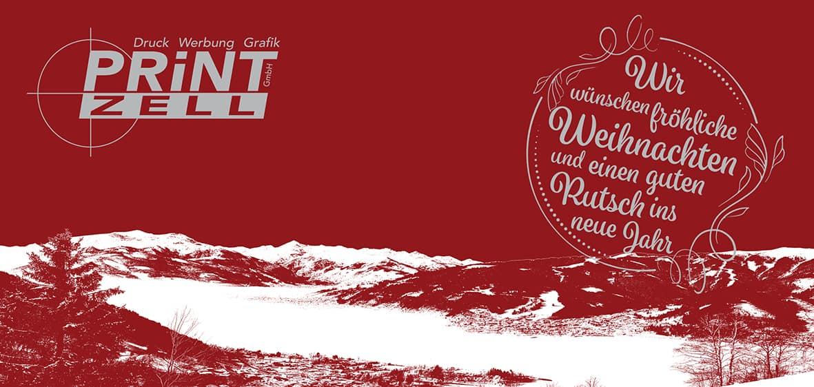 Print Zell Weihnachtskarte VORNE