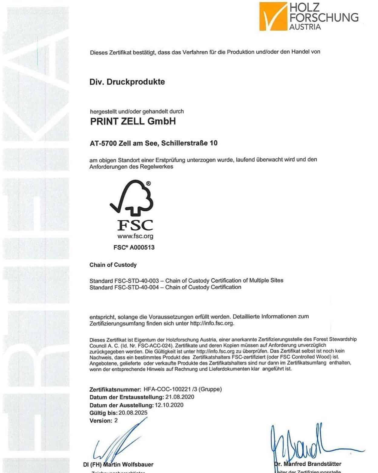 Wir sind FSC zertifiziert ! Der Forest Stewardship Council ist eine nichtstaatli...